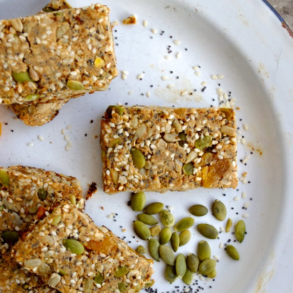 sweet + salty seed bars ... and time for a road trip! via Nutritionist in the Kitch