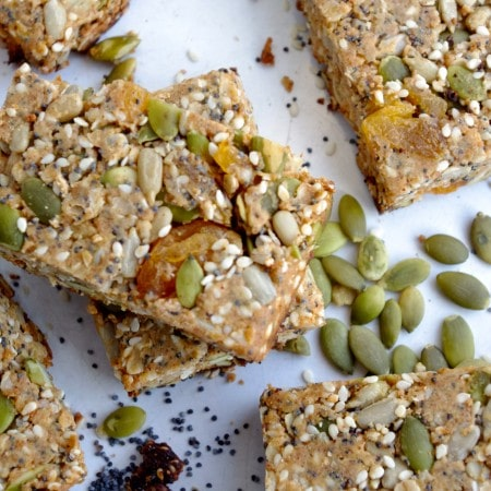 sweet + salty seed bars … and time for a road trip!