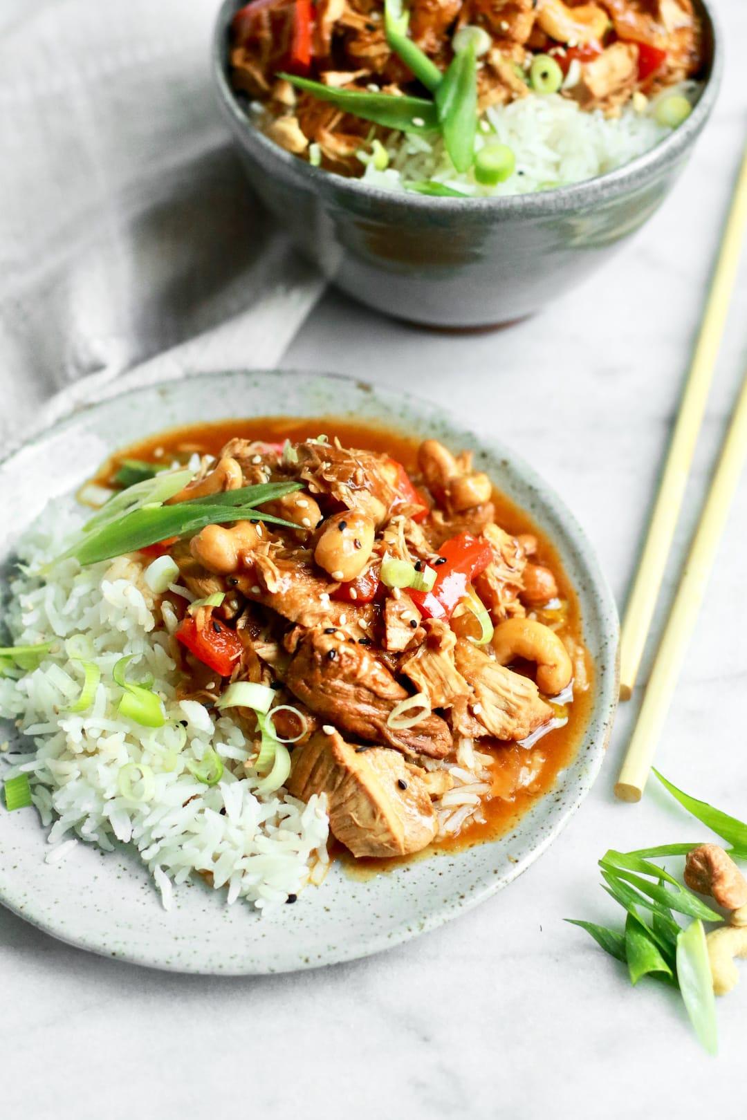 Delicious Easy Healthy Crockpot Cashew Chicken