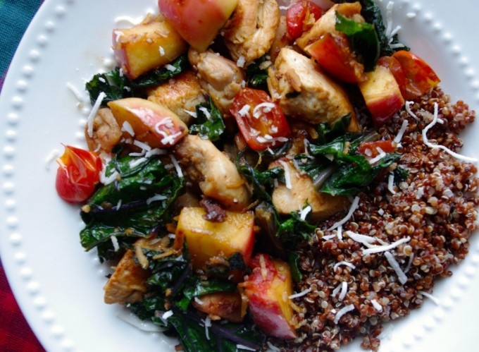 Sweet Apple, Chicken & Coconut Saute via Nutritionist in the Kitch