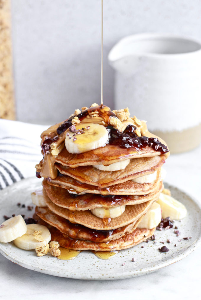 Easy and Healthy Paleo Banana Pancakes with Cinnamon
