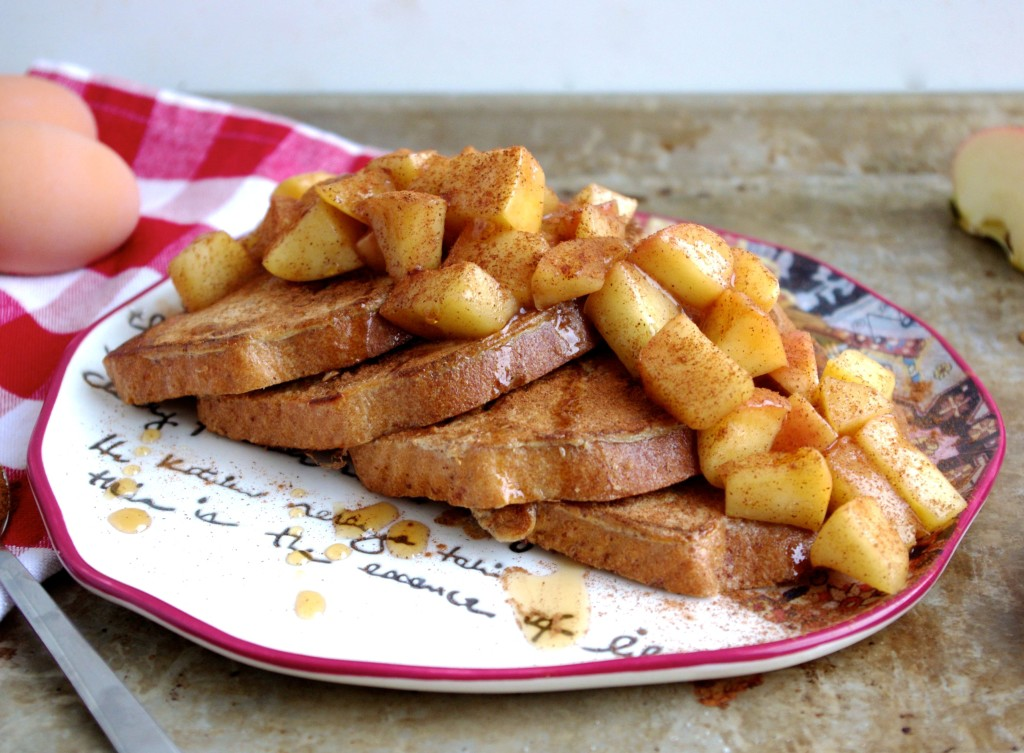 Revamped Cinnamon Apple Eggy Bread via Nutritionist in the Kitch