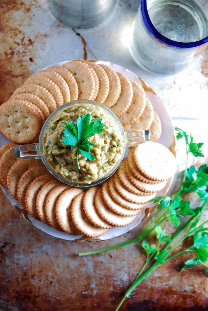 Vegan Roasted Eggplant & Parsley Dip // The Frosted Vegan