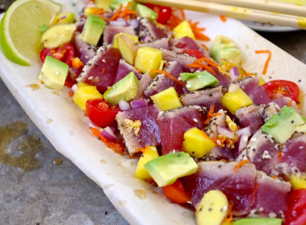( Hawaii Dreaming ) Sesame Chia Crusted Tuna Poke