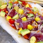 ( Hawaii Dreaming ) Sesame Chia Crusted Tuna Poke