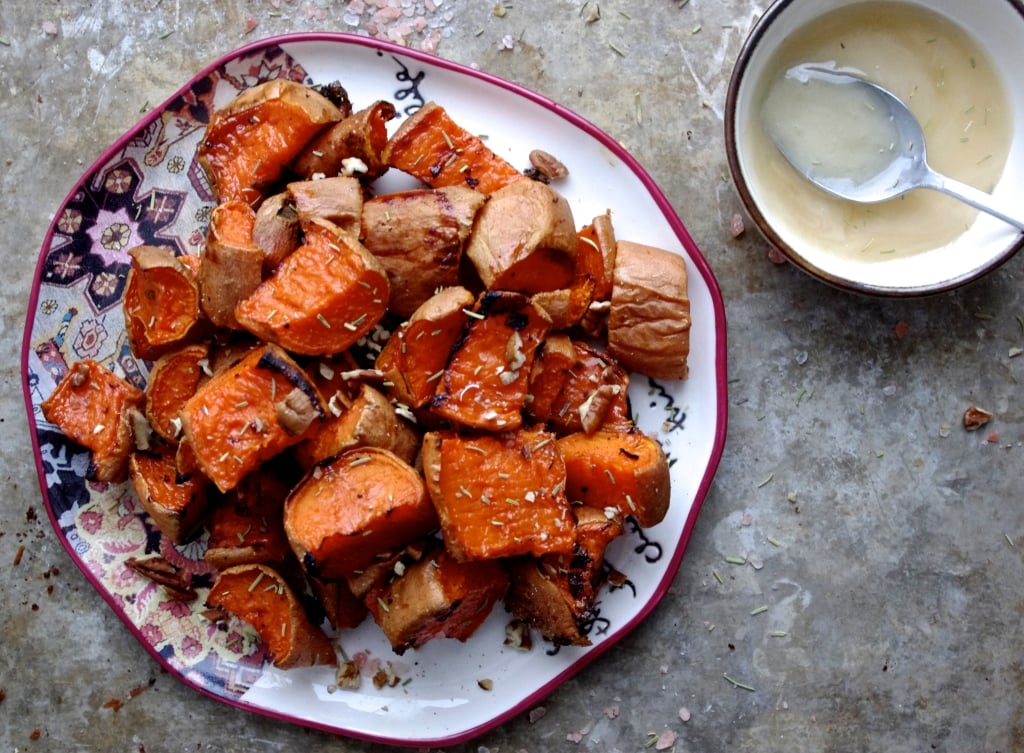 Sea Salt + Honey Caramelized Sweet Potatoes via Nutritionist in the Kitch
