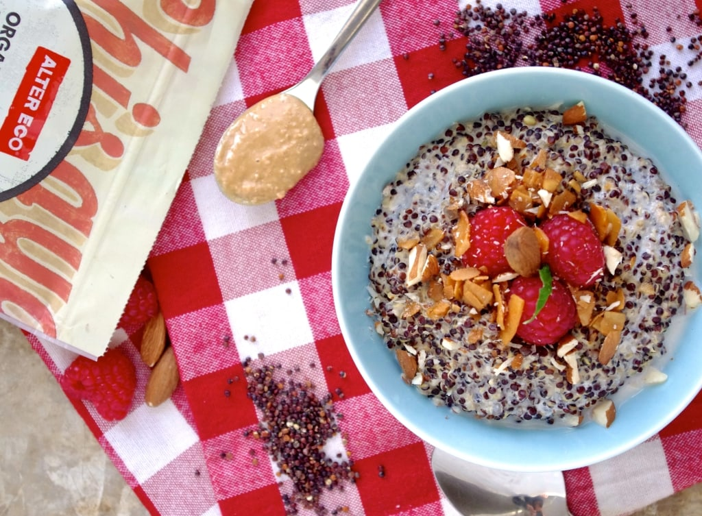 Nutty Quinoa Porridge and an AlterEco + NITK Digestion Reset Guide Giveaway via Nutritionist in the Kitch // Enter the Giveaway today! // nutritionistinthekitch.com