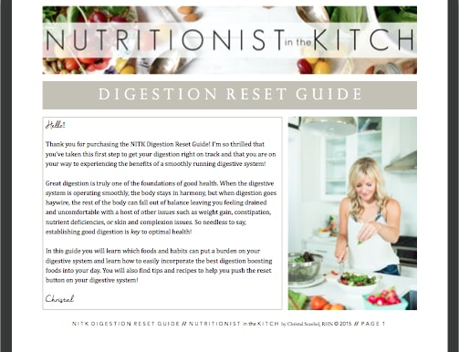 Nutritionist in the Kitch DIGESTION RESET GUIDE - only $3.49!