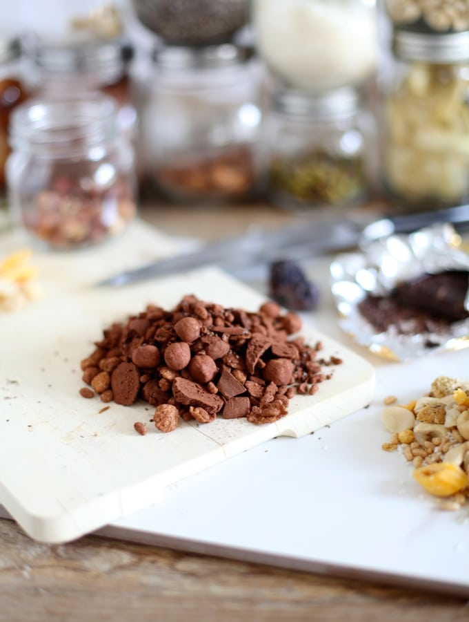 DIY Trail Mix // Hazelnut Chocolate and Tropical Crunch via Nutritionist in the Kitch