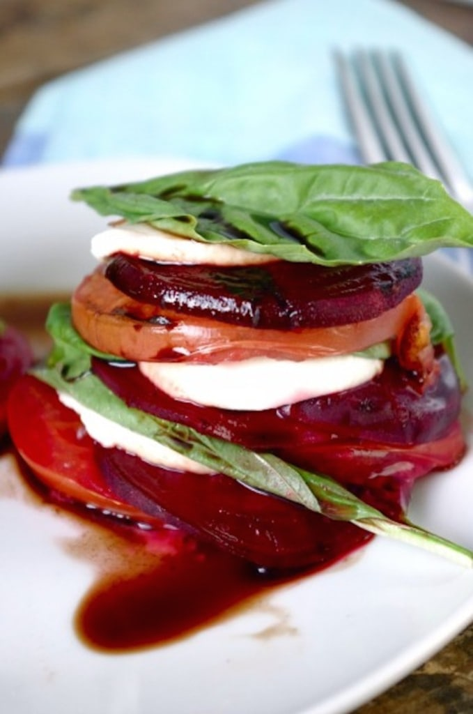 Grilled Beet Caprese Stacks via Nutritionist in the Kitch