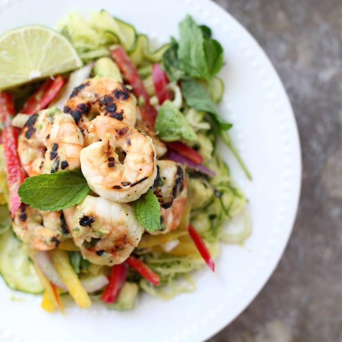 Mojito Prawn Zucchini Salad