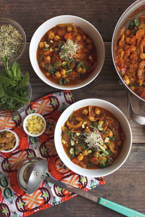 Moroccan Chickpea Stew from Tasty Yummies