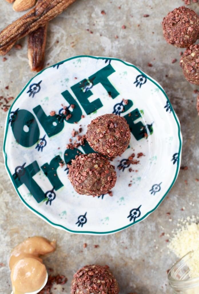 Grain-Free Cocoa Banana Bread Protein Bites