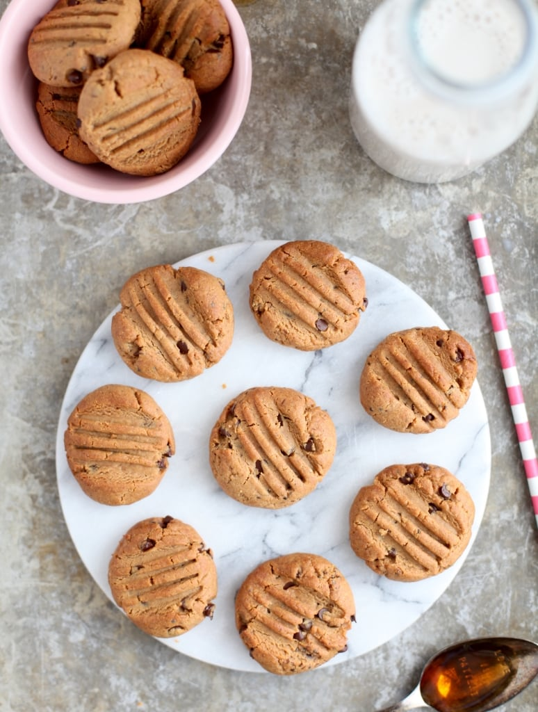 {100 Calorie} Grain-Free Nut Butter Chocolate Chip Cookies