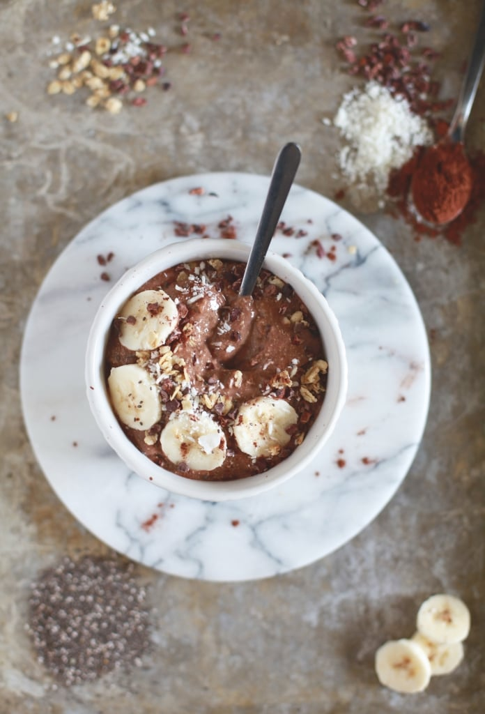 Rich Cocoa Chia Smoothie Bowl (dairy, gluten, grain free) via Nutritionist in the Kitch