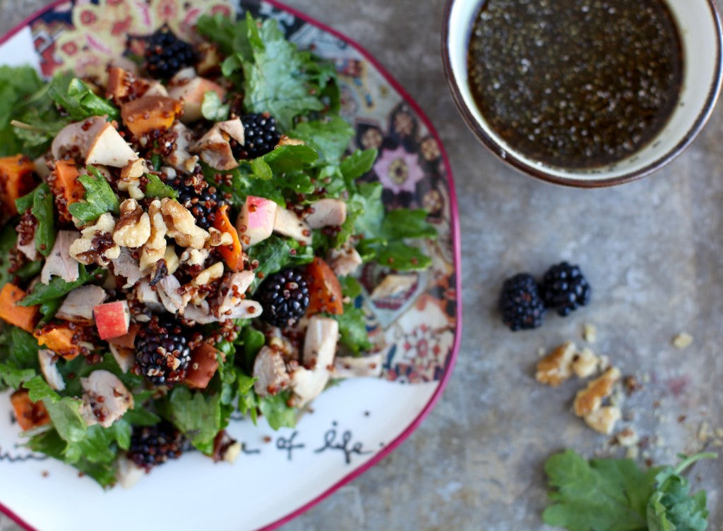 The Ultimate Fall Salad with Maple Pumpkin Chia Dressing // Gluten & Dairy Free