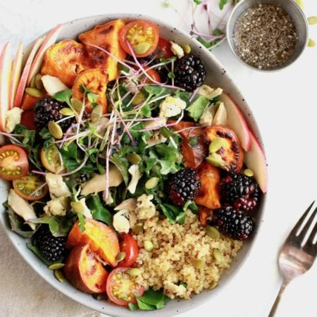 Ultimate Fall Salad Recipe with Chicken and Maple Pumpkin Chia Dressing