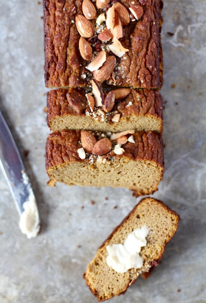 5-Ingredient Pumpkin Pie Loaf // Grain & Dairy Free
