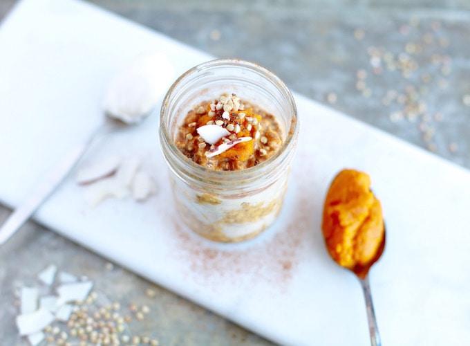 For Those Who Skip Breakfast // Pumpkin Pie Overnight Buckwheat + Oats