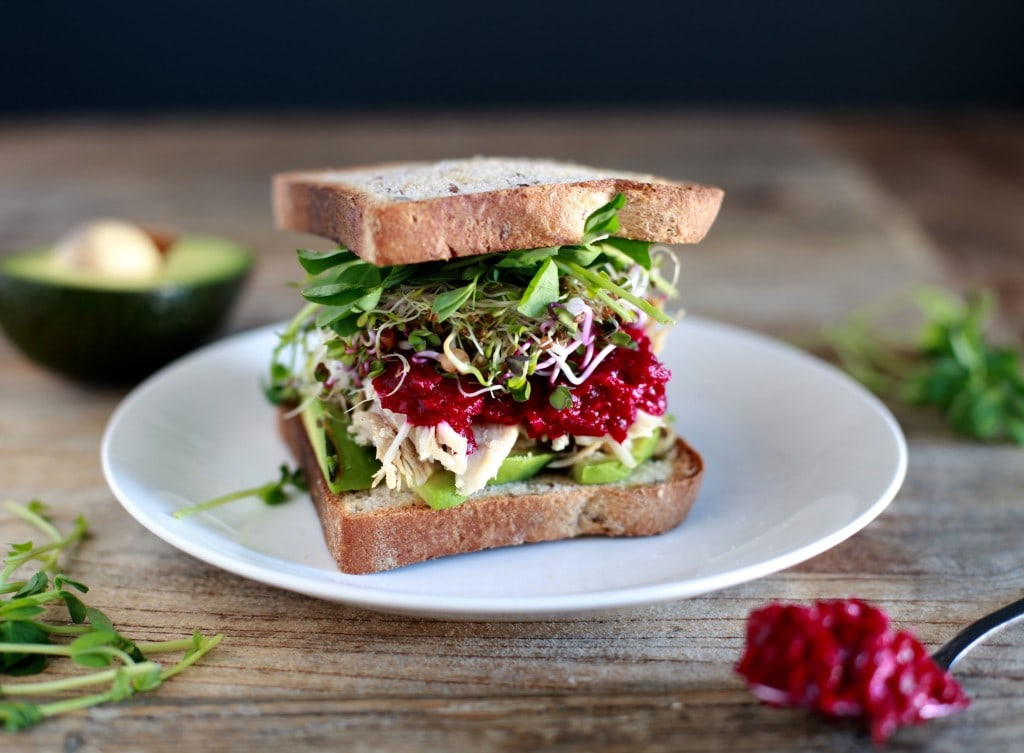 Turkey Sprout & Avocado Sandwich with Mom's (Unreal!) Beet Horseradish
