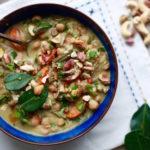 Slow Cooker Thai Green Cashew Chicken Curry (Vegetarian Option)