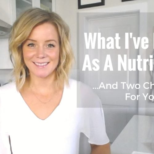 What I've Learnt As A Nutritionist via Nutritionist in the Kitch