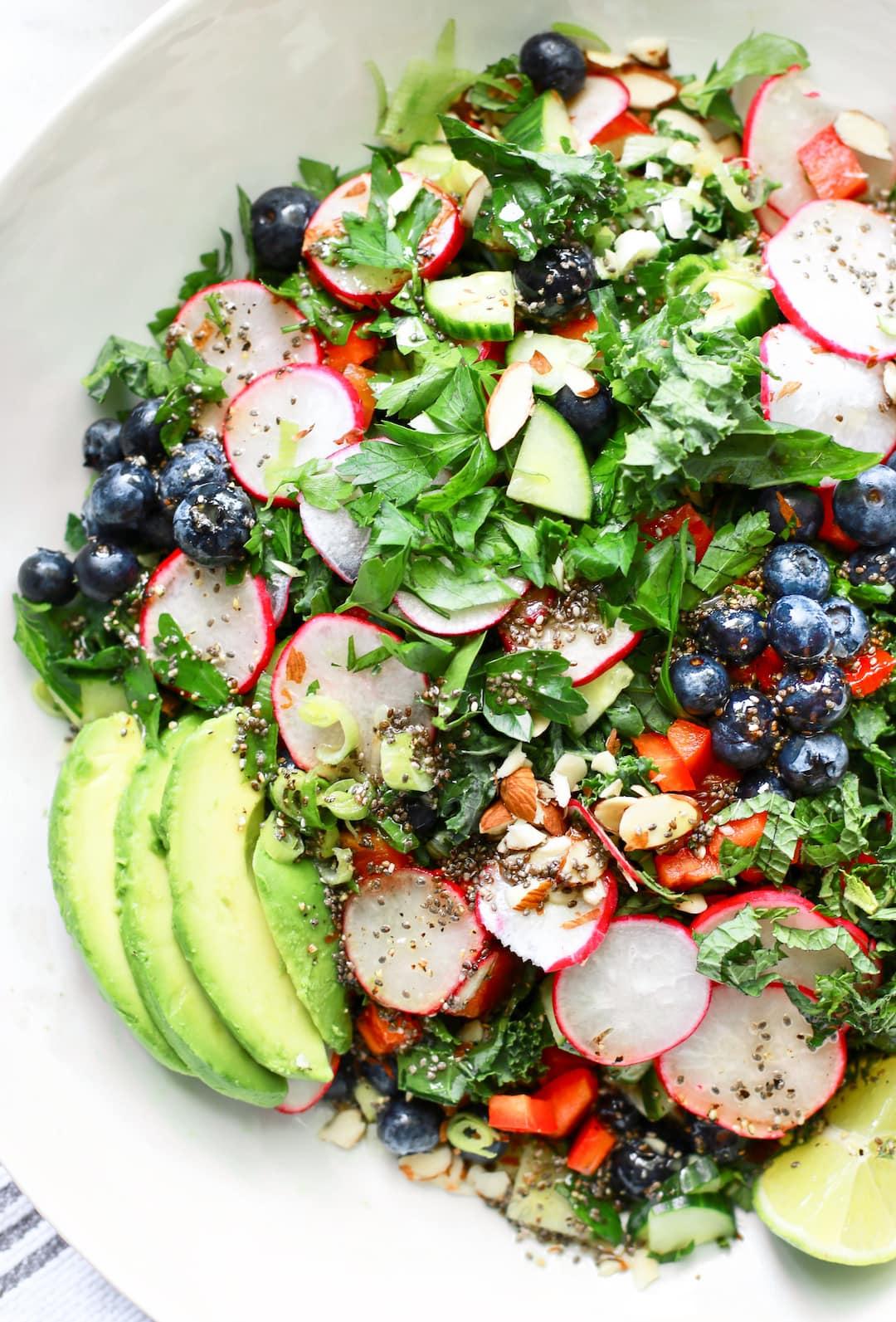 Vitality Kale Superfood Salad // Gluten Free & Dairy Free