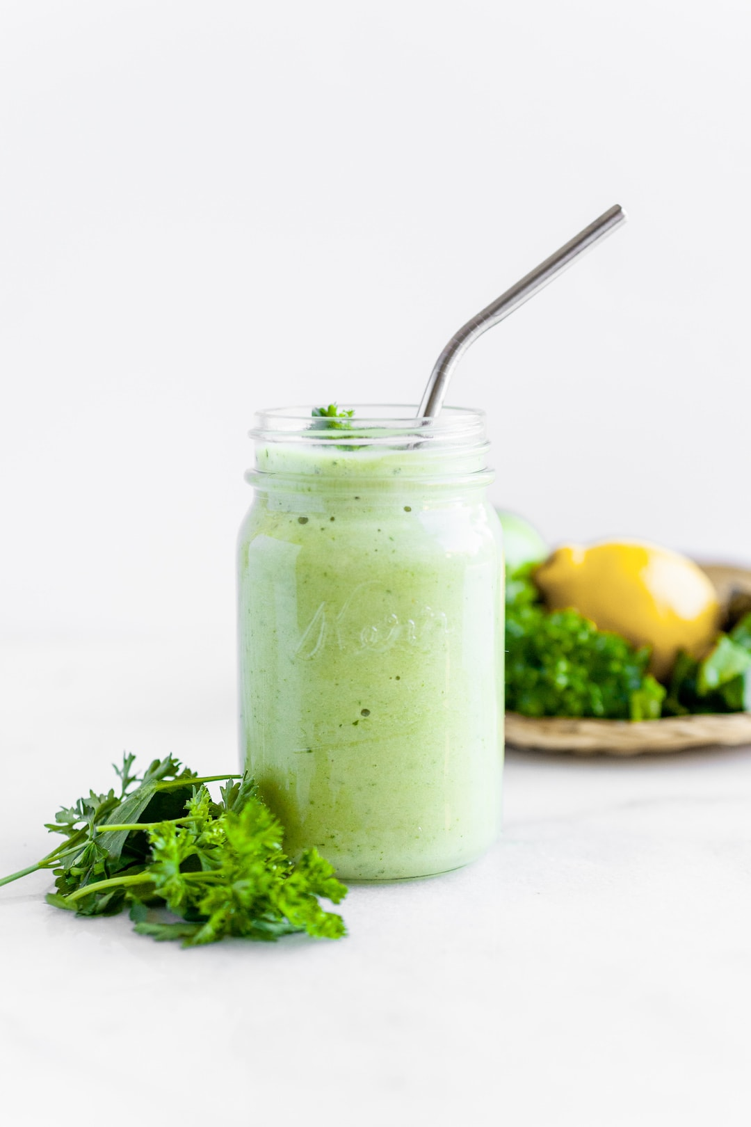 Best Ever Parsley Smoothie Recipe in a jar 2