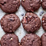 Valentine's Day Double Chocolate Chip Pecan Cookies
