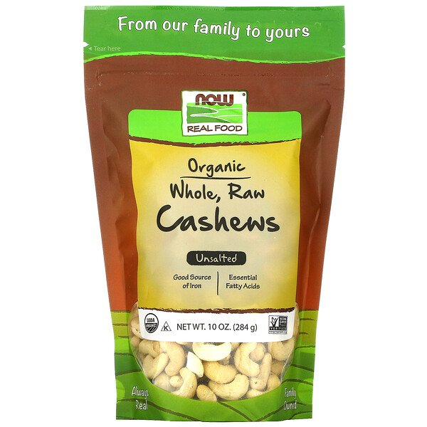 Now Foods Real Food Organic Raw Cashews