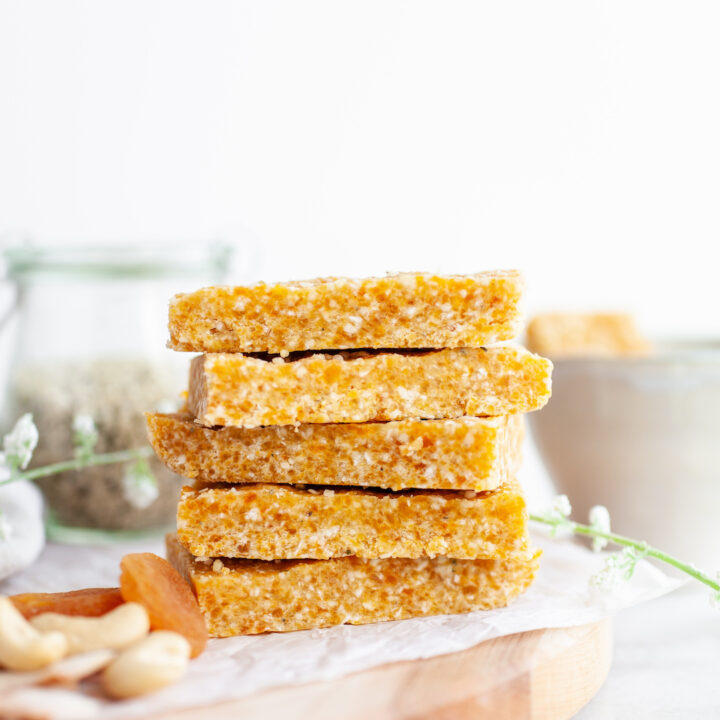 Apricot Cashew Energy Bars stacked