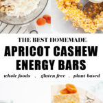 Apricot Cashew Energy Bars pin 1