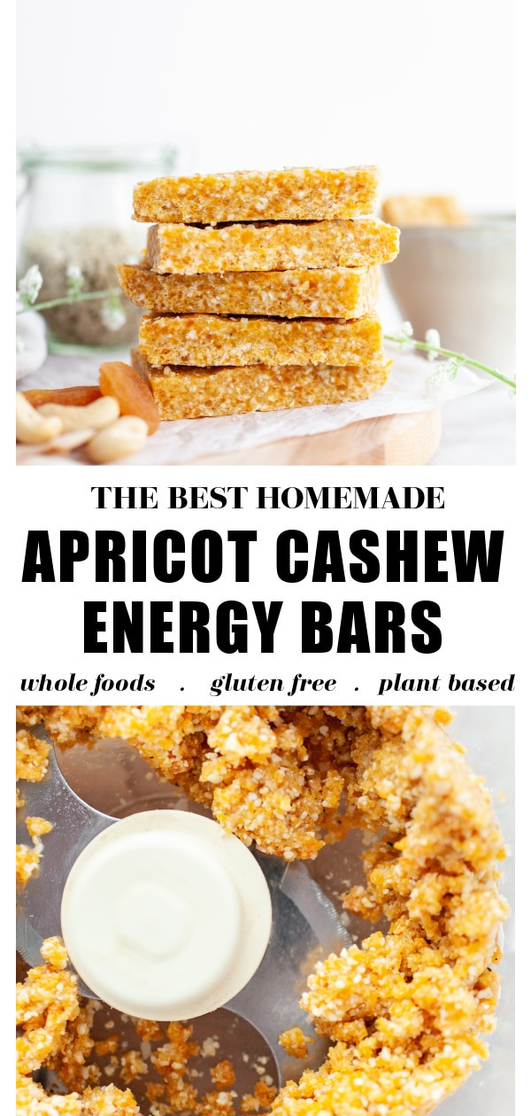 Apricot Cashew Energy Bars pin 2