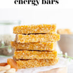 Apricot Cashew Energy Bars pin 4