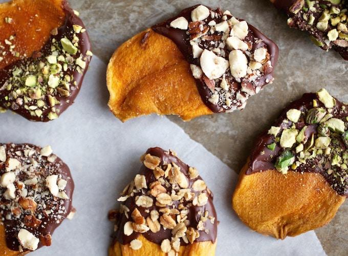 Dark Chocolate Dipped Mango Snacks // Gluten & Dairy Free