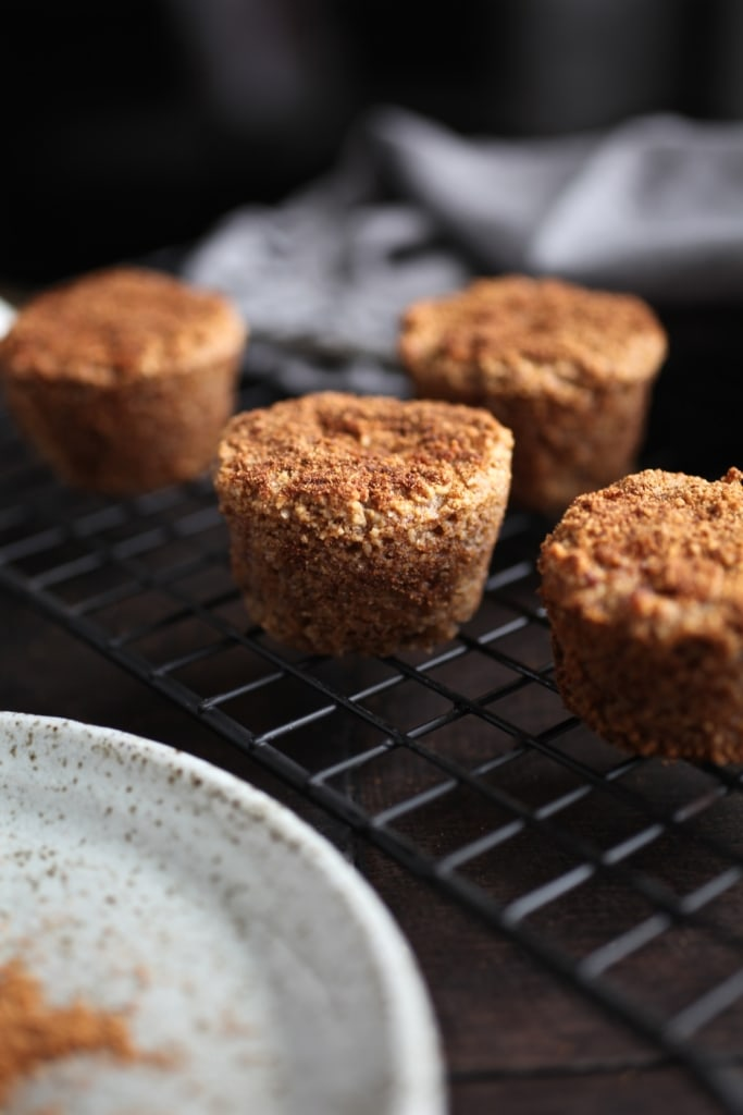 Grain-Free Mini Churro Muffins via Nutritionist in the Kitch (Dairy Free)