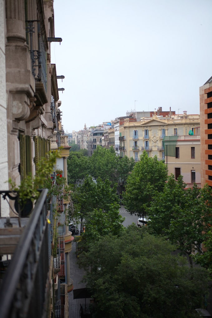 NITK's Healthy Barcelona City Guide - The view from our apartment