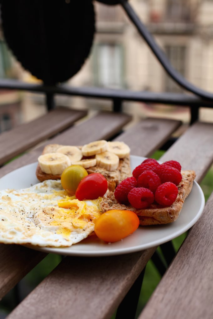 NITK's Healthy Barcelona City Guide - Breakfast made in our apartment