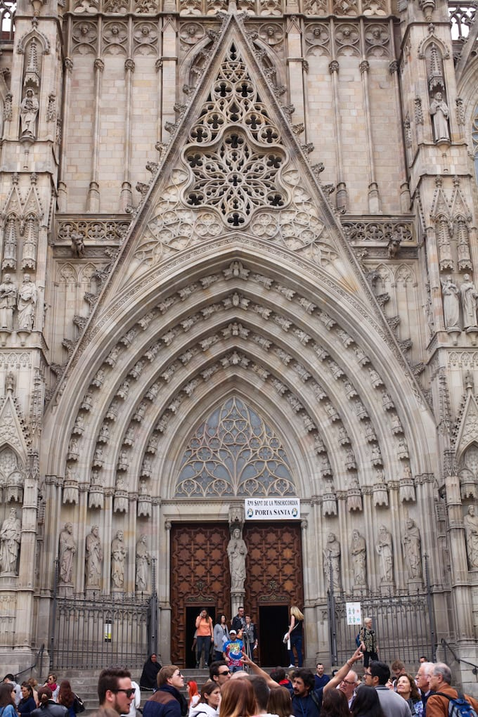 NITK's Healthy Barcelona City Guide - Beautiful Cathedral Exterior