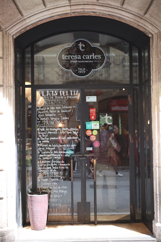 NITK's Healthy Barcelona City Guide - Teresa Carles Restaurant