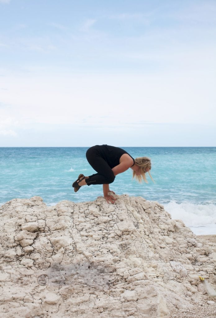 Yoga on Myrtos Beach