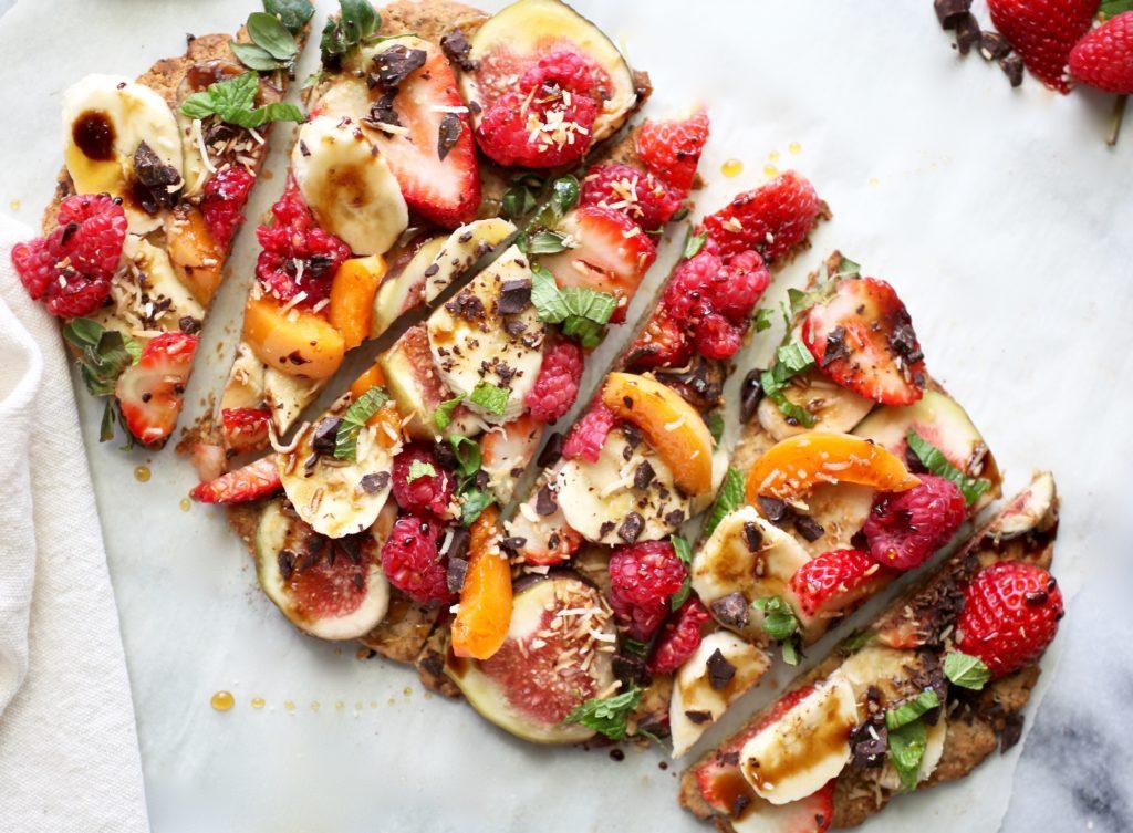 Healthy Grain-Free Dessert Pizza