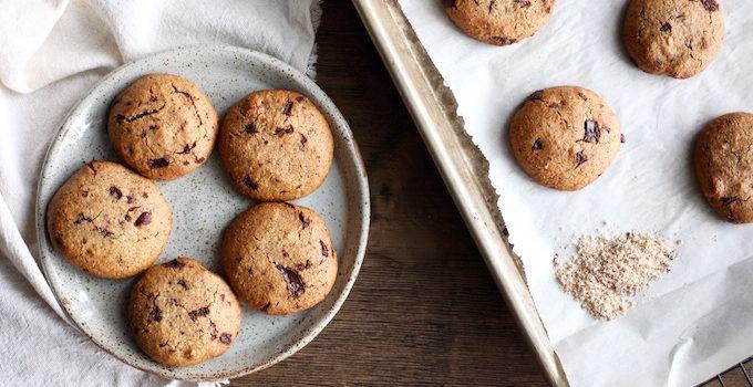 Hazelnut Chocolate-Chunk Cookies // Grain-Free + Vegan