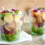 Veggie-Loaded Summer Potato Salad Jars via Nutritionist in the Kitch