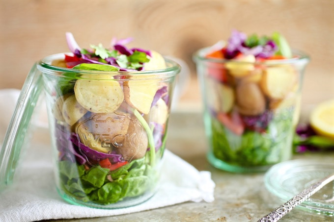 Veggie-Loaded Summer Potato Salad Jars
