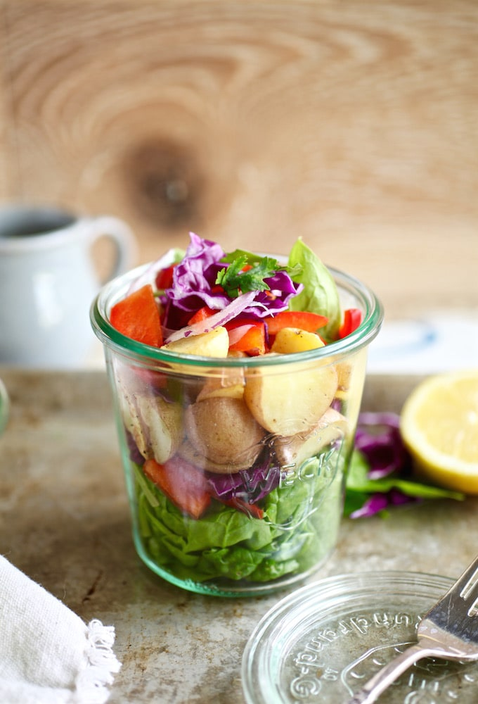 Veggie-Loaded Summer Potato Salad via Nutritionist in the Kitch