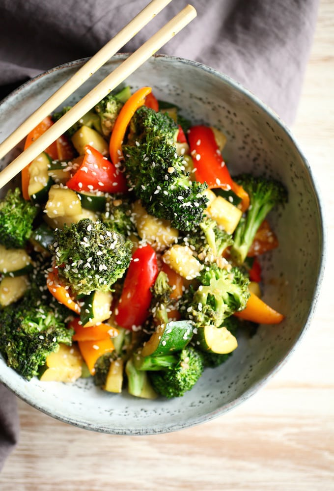 Quick & Easy Stir Fry Veggies // Gluten Free via Nutritionist in the Kitch