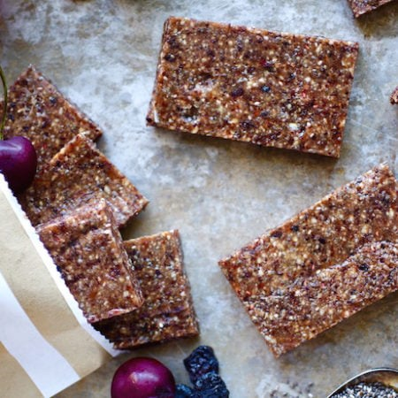 Chia Cherry Energy Bars // A Sneak Peek into the NITK Online Wellness Program!!! (via Nutritionist in the Kitch)