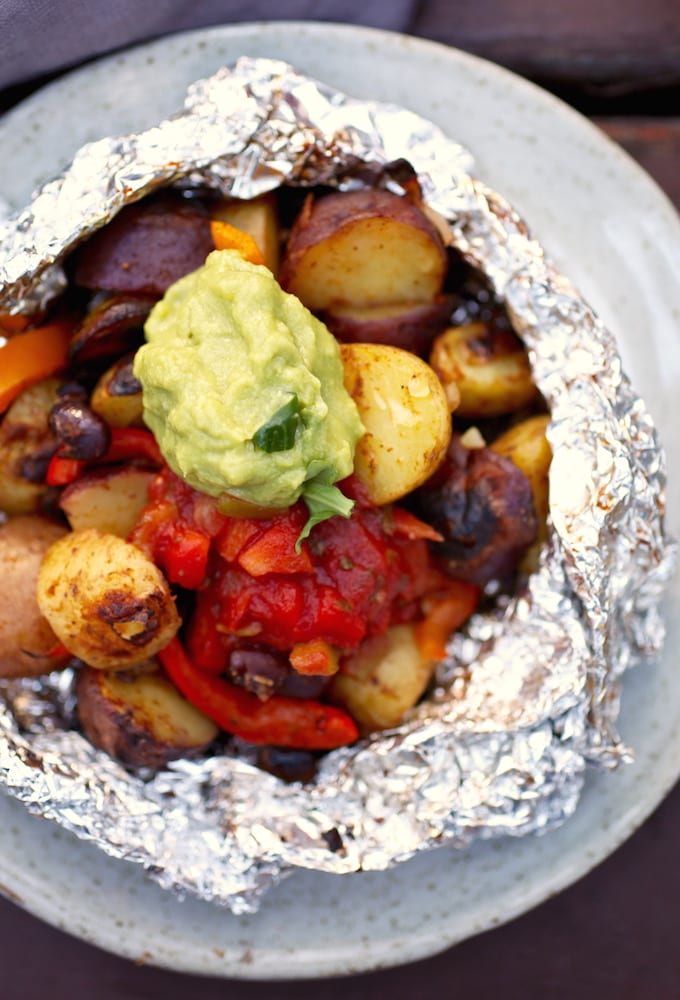 Tex-Mex Potato Grill Packets via Nutritionist in the Kitch