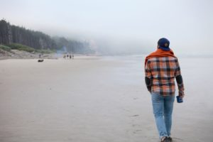 A foggy stroll on the Coast at Cape Lookout